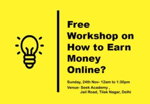 Free Workshop on How to Earn Money Online?